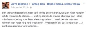 """reactie Lieve Blomme - """"Graag Zien"""" het boek"""