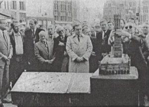 Belfort voor blinden op Brugse Markt